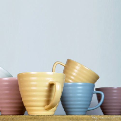 Harriet Caslin Porcelain - Lathed Cups - Choice Of 3 Colours